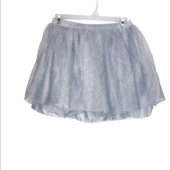 Crazy eight silver skirt girls size 14 flare cute